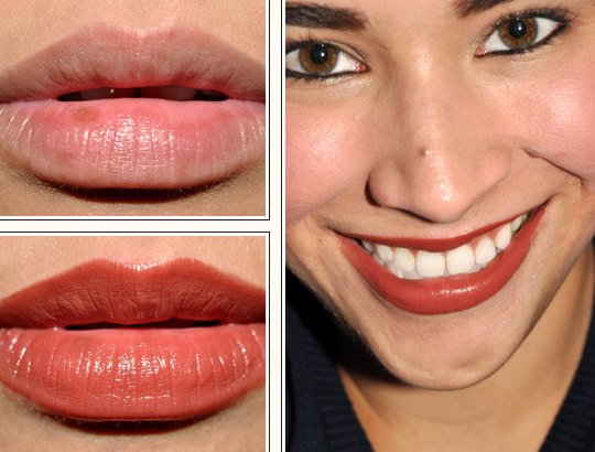 Shiseido Tawny BR 735 Perfect Rouge Lipstick Review