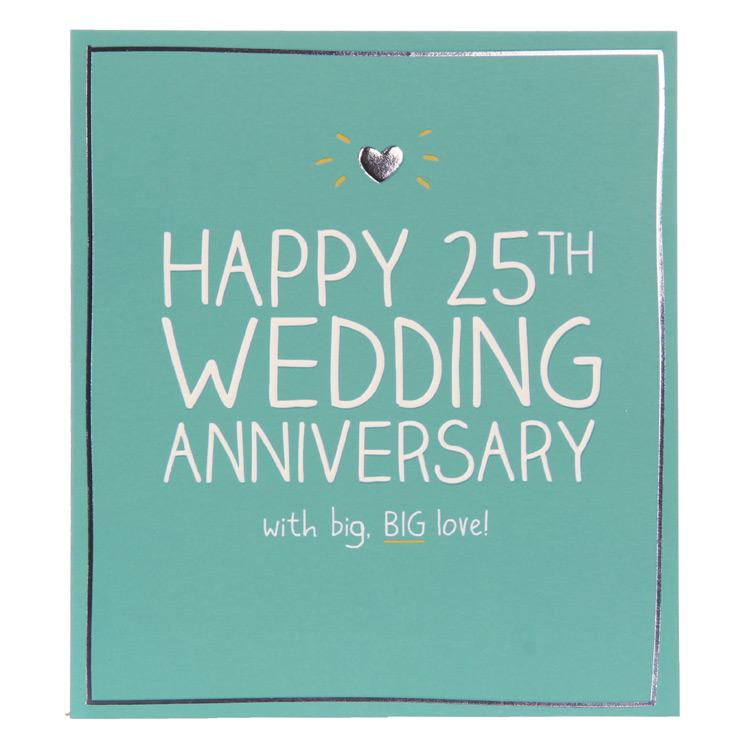 25th Anniversary Cards For Husband Www Imgkid Com The