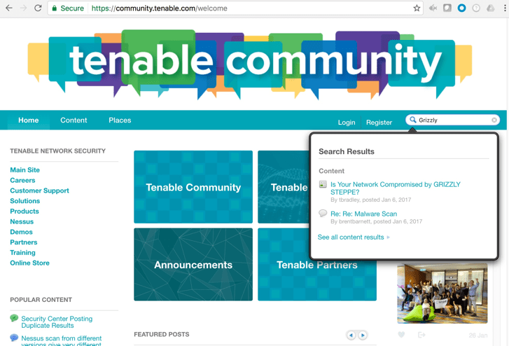 Tenable Community