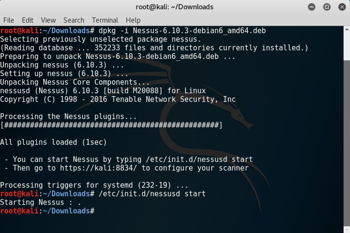 Web Security Kali Linux