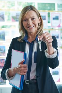 Handing keys to first-time renter