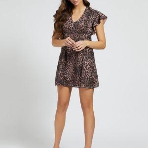 abito corto ayar stampa leopardata