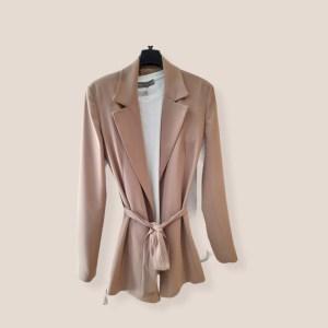 giacca vestaglia a portafoglio fluida cammello