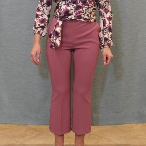 pantaloni a trombetta tessuto bistrech