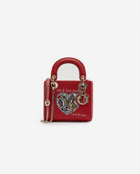 Sac Dior Lady Mini Calf rouge