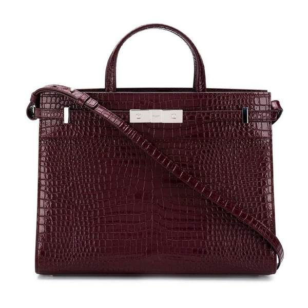 Sac à bandoulière Saint Laurent Manhattan Bordeaux