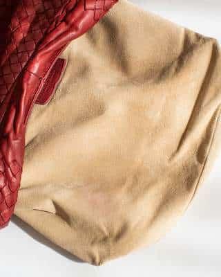 L'intérieur du sac après nettoyage plus de trace