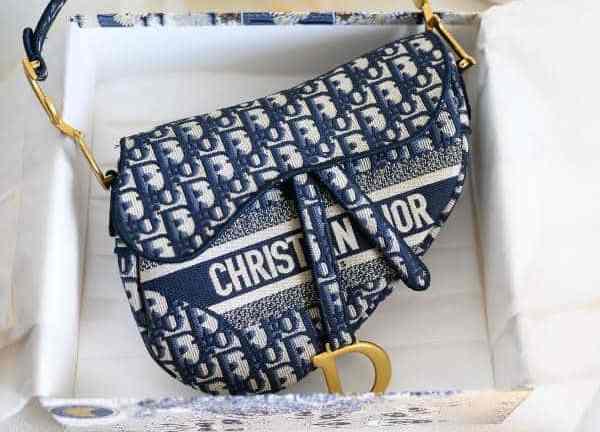 sac Dior en toile brodée oblique