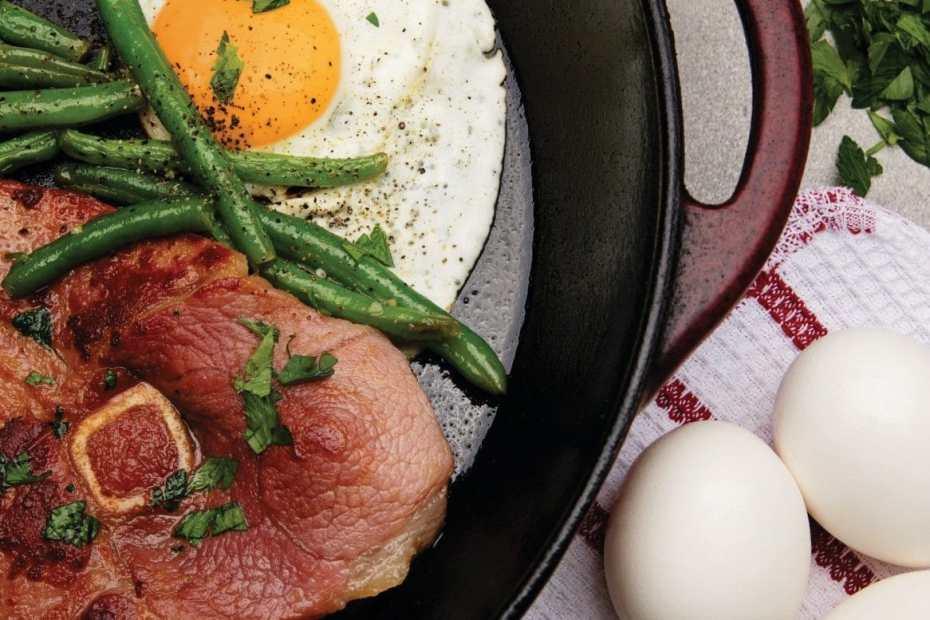 Huevos y carne: Comida con proteinas