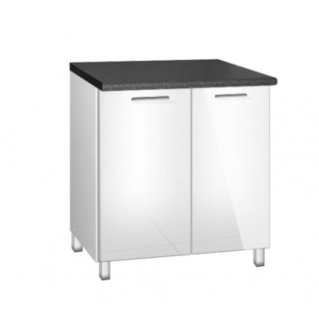meuble de cuisine bas 80 cm sous evier tara avec pieds reglables