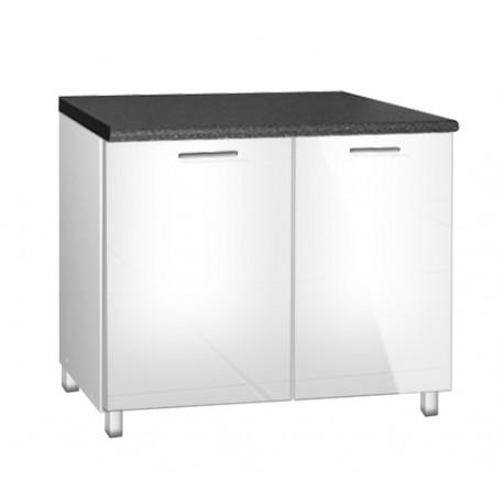 meuble de cuisine sous evier 120 cm tara avec pieds reglables