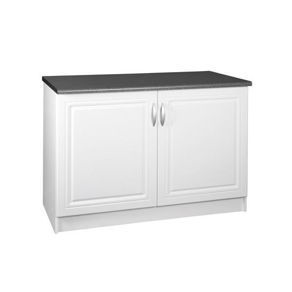meuble de cuisine bas 2 portes 120 cm dina en melamine avec 1 etagere