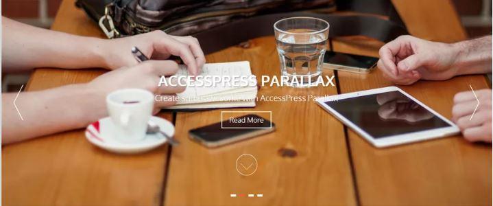 accessspress-parallax theme