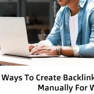 Create backlinks manually for website