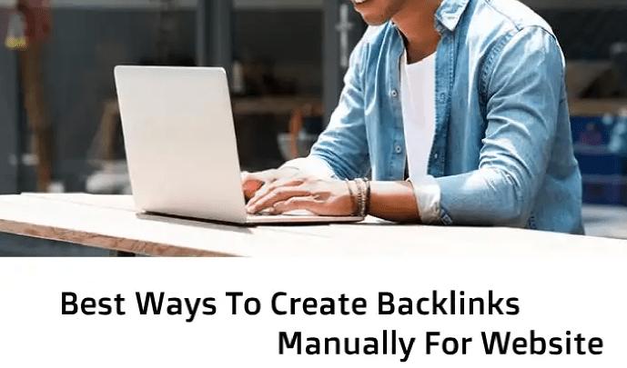 Create backlinks manually for website