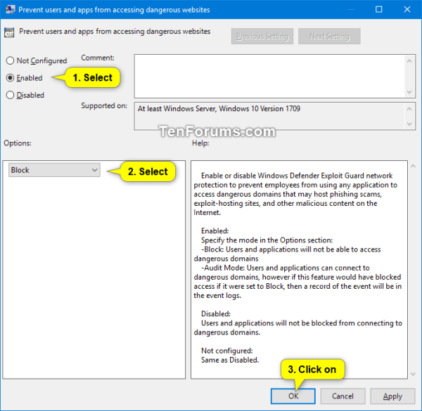Enable Windows Defender Exploit Guard Network Protection ...