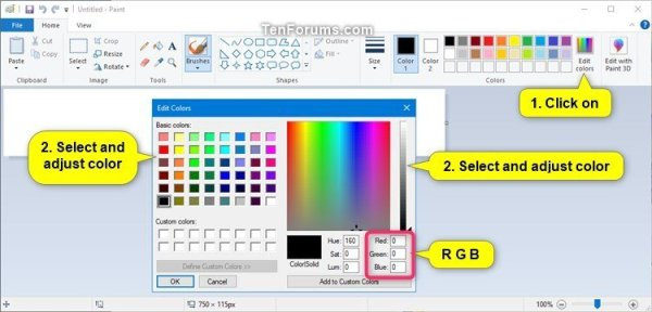 Change Highlighted Text Color in Windows 10 | Tutorials