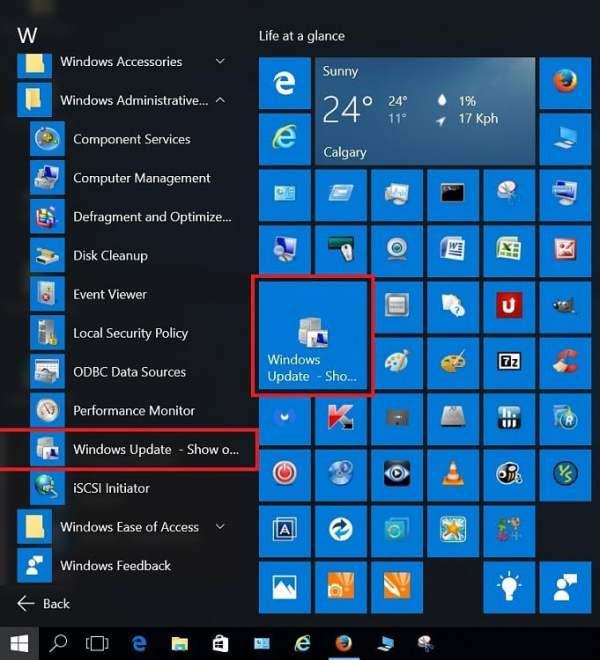 Hide or Show Windows Updates in Windows 10   Tutorials