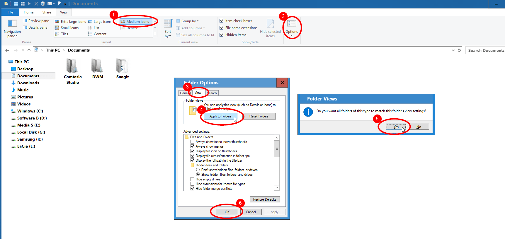 Change Folder View Layout In Windows 10