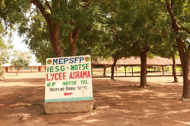 L'ingresso del liceo di Asrama