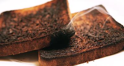 Tostadas quemadas