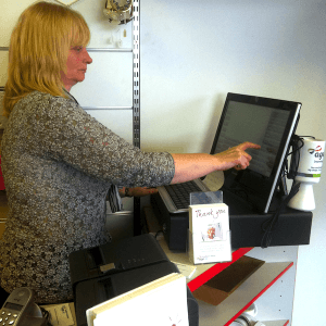 Tengo Software till in use at Age UK Hipperholme
