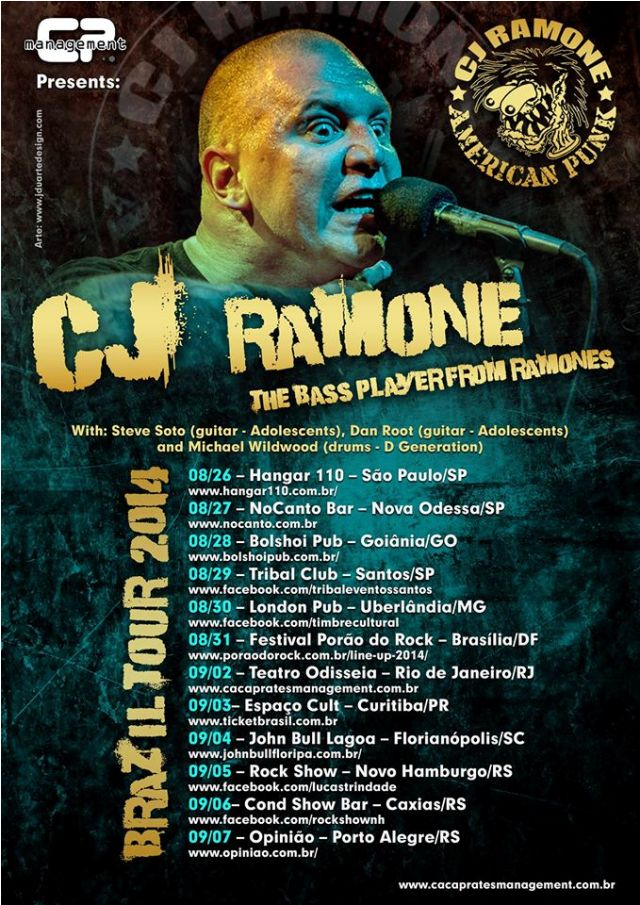 cj ramone1 CJ Ramone lança novo single pela Fat Wreck Chords