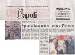 Cronache di Napoli Epifania festa in tono minore al Plebiscito