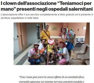 I clown dell'associazione Teniamoci per Mano presenti negli ospedali salernitani