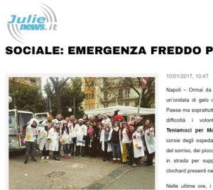 Sociale Emergenza freddo per i Clochard