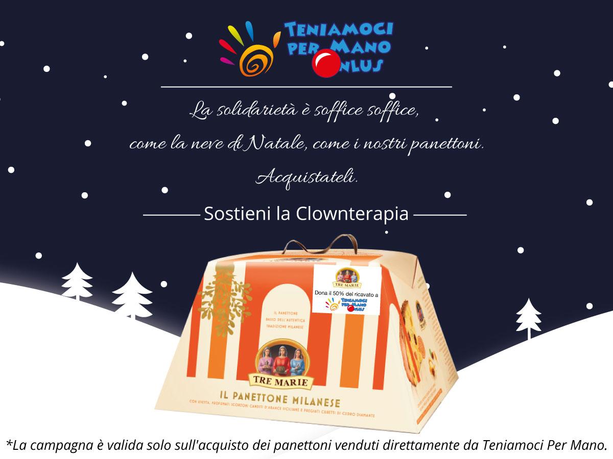 Panettoni TreMarie a sostegno della Clownterapia