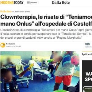 """Clownterapia, le risate di """"Teniamoci per mano Onlus"""" all'ospedale di Castelfranco """"Clownterapia, le risate di """"Teniamoci per mano Onlus"""" all'ospedale di Castelfranco"""""""