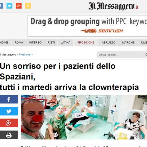 Un sorriso per i pazienti dello Spaziani tutti i martedì arriva la clownterapia