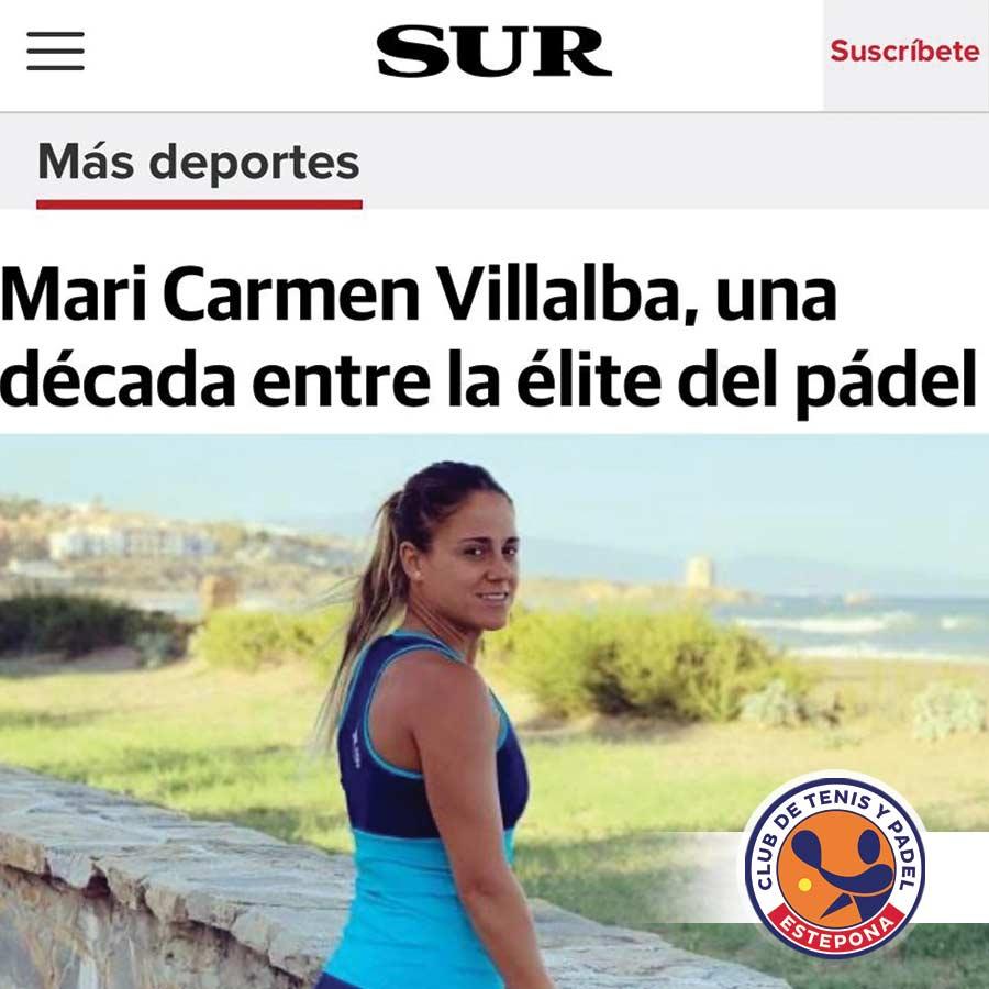 Entrevista a nuestra estelar campeona en el Diario SUR.