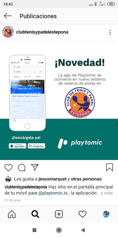 Reserva tu pista de Padel con la app Playtomic.
