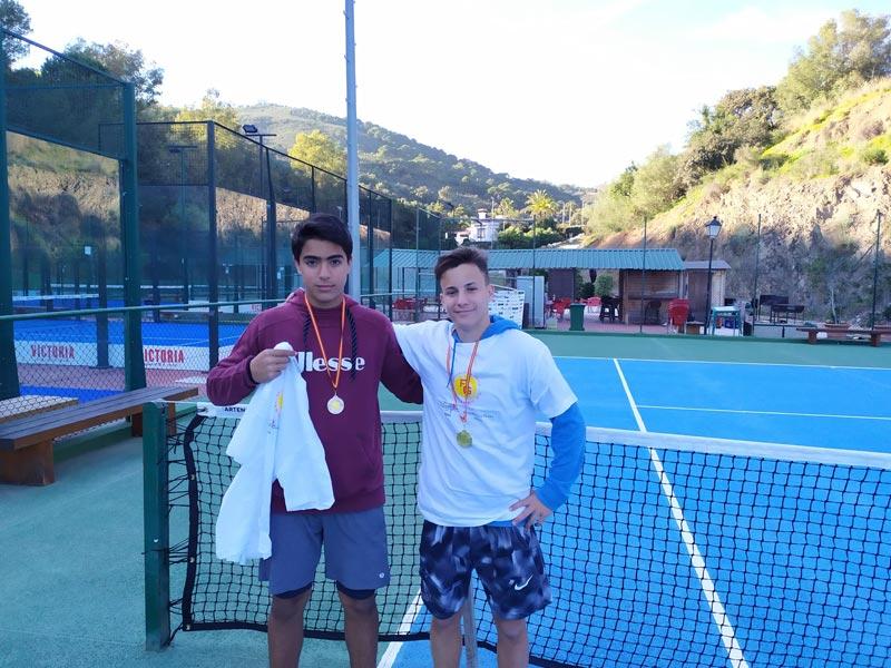Entrega de premios Torneo Promocional de tenis