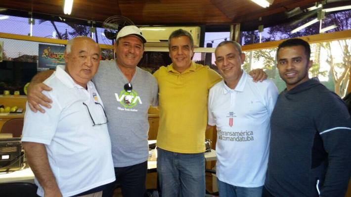 Lauro Nishiura, Jose Roberto Villegas, Luiz Fernando Balieiro (presidente da FPT) e Jose Artur Zuccari.