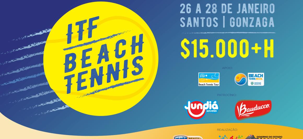 SANTOS RECEBE ITF DE BEACH TENNIS – $15000+H