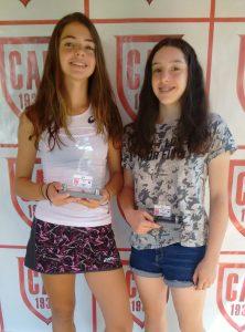 Indiano Open - Cat. 18F1 Campeã Manuela Piera Ozzetti Dejean e vice-campeã Lara Rossetto Diniz de Souza