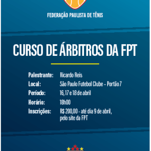 FPT LANÇA CURSO DE ÁRBITROS DE TÊNIS