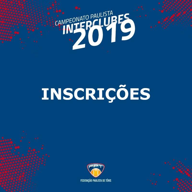 INSCRIÇÕES INTERCLUBES 2019 | 45MA, 45MB, 45MC E 70M