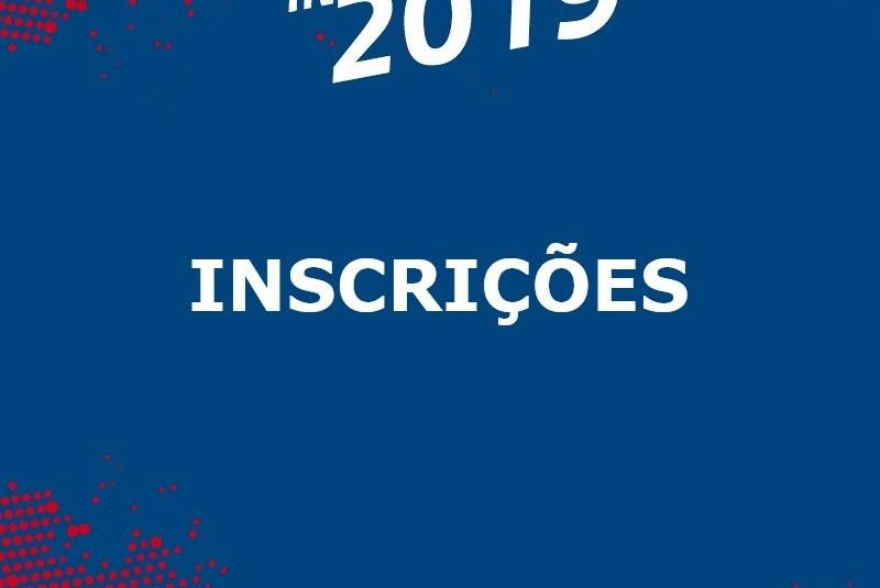 INSCRIÇÕES INTERCLUBES 2019 | 55FA, 55FB, 65M, DM55A E DM55B