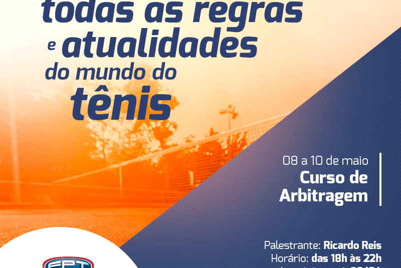 CURSO DE ARBITRAGEM | 08 A 10 DE MAIO