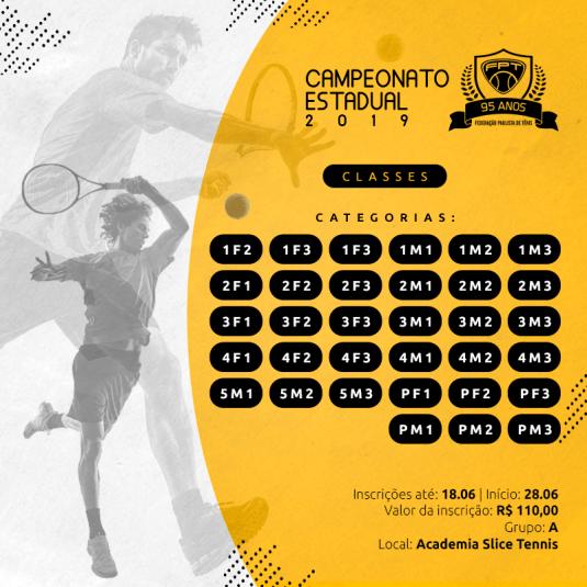 CAMPEONATO ESTADUAL 2019 – CATEGORIAS CLASSES