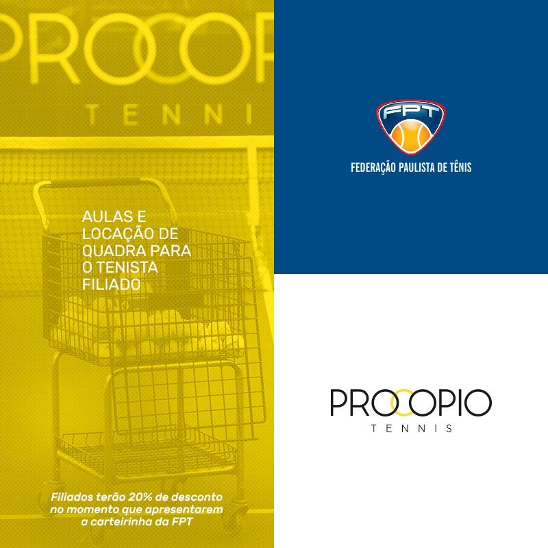 PROCOPIO TENNIS – NOVO PARCEIRO DO CLUBE DE BENEFÍCIOS DA FPT