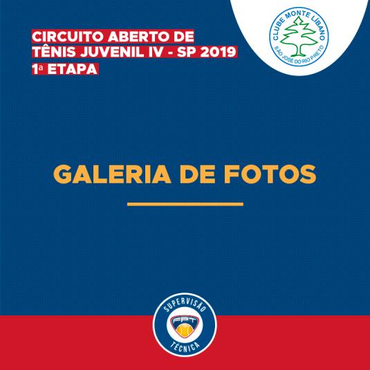 GALERIA DE FOTOS – CIRCUITO ABERTO DE TÊNIS JUVENIL IV – SP 2019 – 1ª ETAPA
