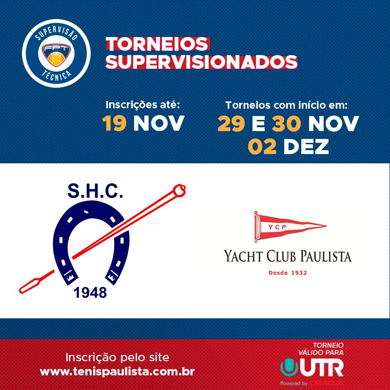 TORNEIOS SUPERVISIONADOS – INSCRIÇÕES ATÉ 19.11