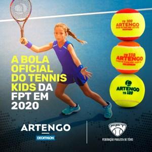 ARTENGO É A BOLA OFICIAL DA FPT NO TENNIS KIDS