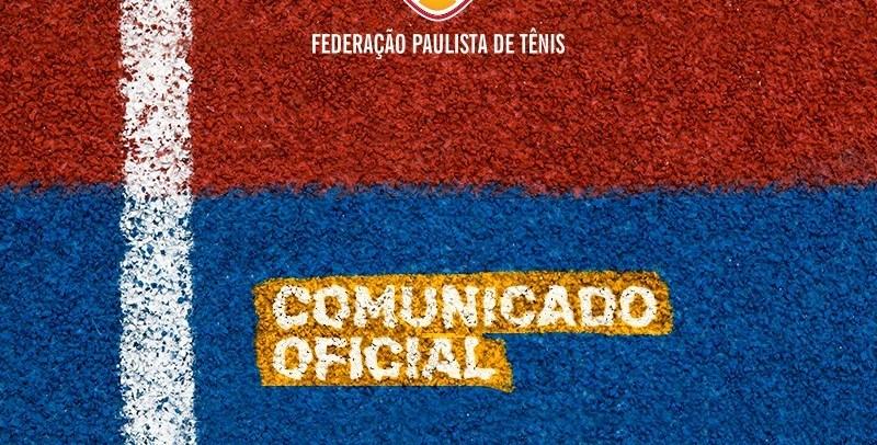 COMUNICADO OFICIAL – CANCELAMENTO DE TORNEIO
