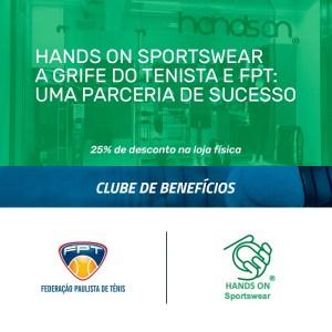 HANDS ON SPORTSWEAR – NOVO PARCEIRO DO CLUBE DE BENEFÍCIOS DA FPT